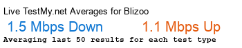 Blizoo Avg Speed