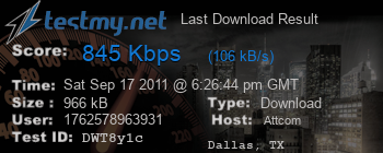 Last Download Result for Att.com