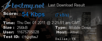 Last Download Result for Att.net