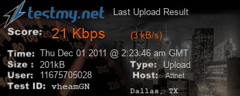 Last Upload Result for Att.net