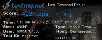 Last Download Result for Beamspeed.net