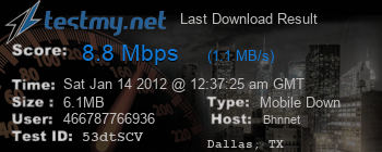 Last Download Result for Bhn.net
