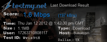 Last Download Result for Bulsat.com