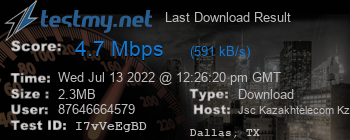 Last Download Result for Kazakhstan