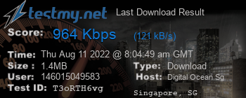 Last Download Result for Singapore