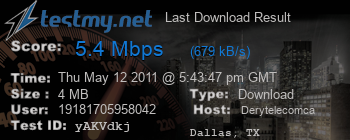 Last Download Result for Derytelecom.ca