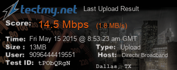 Last Upload Result for DIRECTV-Broadband