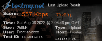 Last Upload Result for Frontier Communications