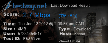 Last Download Result for Kpn.net