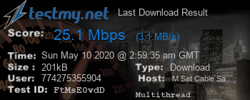 Last Download Result for M SAT Cable SA