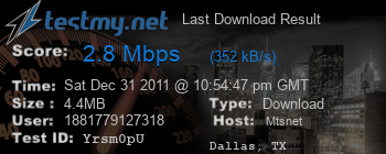 Last Download Result for Mts.net