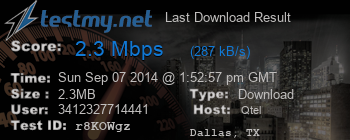 Last Download Result for Qtel