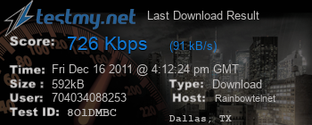Last Download Result for Rainbowtel.net