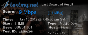 Last Download Result for Tds.net