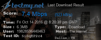 Last Download Result for The Internet Channel