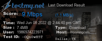 Last Download Result for wyoming.com