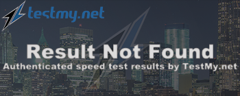 Results from testmy.net
